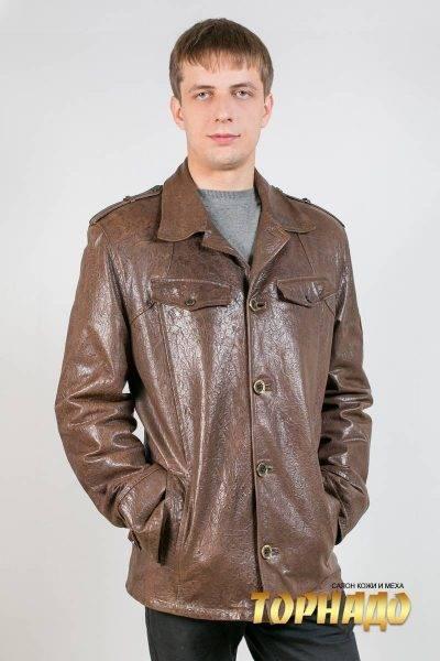 Мужская кожаная куртка. Артикул 12243.
