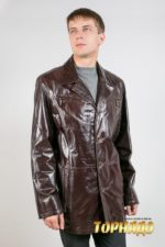 Мужская кожаная куртка. Артикул 12334.