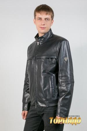 Мужская кожаная куртка. Артикул 17007.
