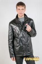 Мужская кожаная куртка. Артикул 17031.