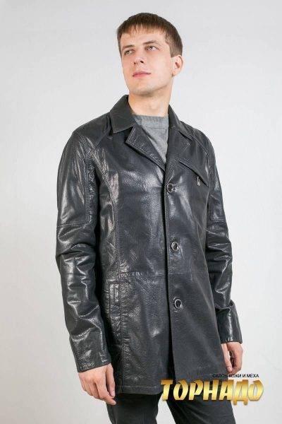 Мужская кожаная куртка. Артикул 17034.