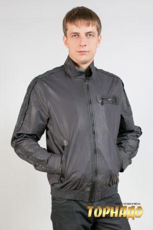 Мужская кожаная куртка. Артикул 18447.