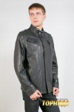 Мужская кожаная куртка. Артикул 18457.