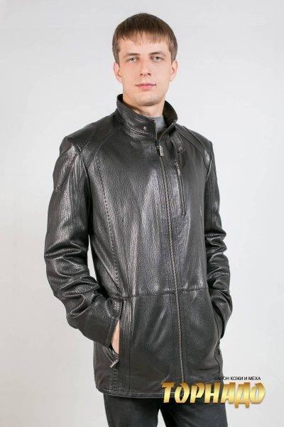 Мужская кожаная куртка. Артикул 18470.