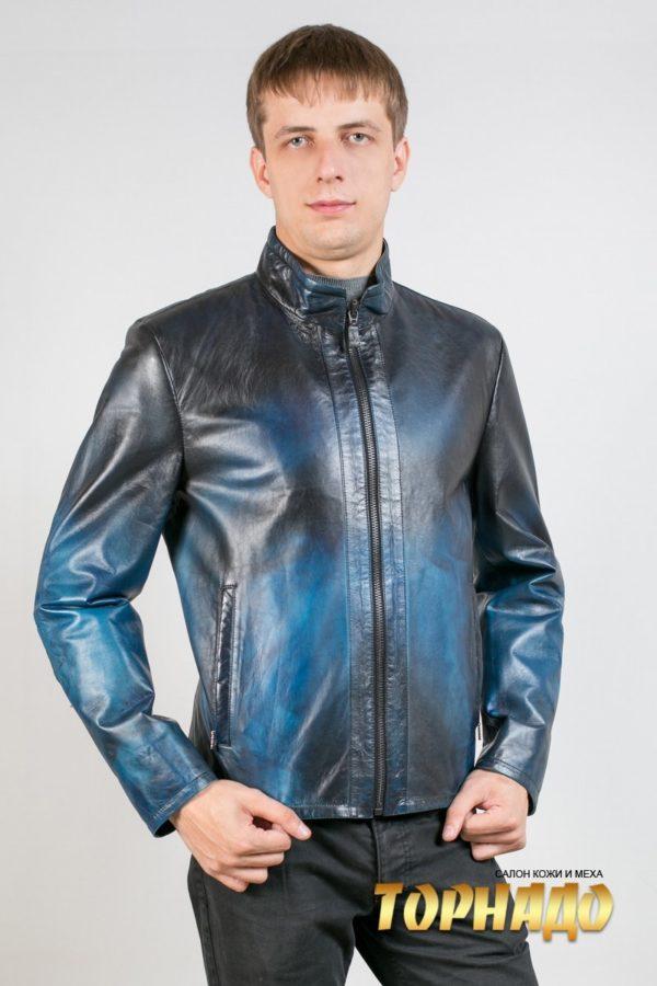 Мужская кожаная куртка. Артикул 20570-1.