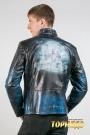 Мужская кожаная куртка. Артикул 20570-2.