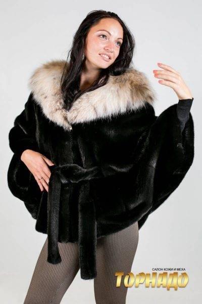 Женская шуба из норки. Артикул ШН-20525.