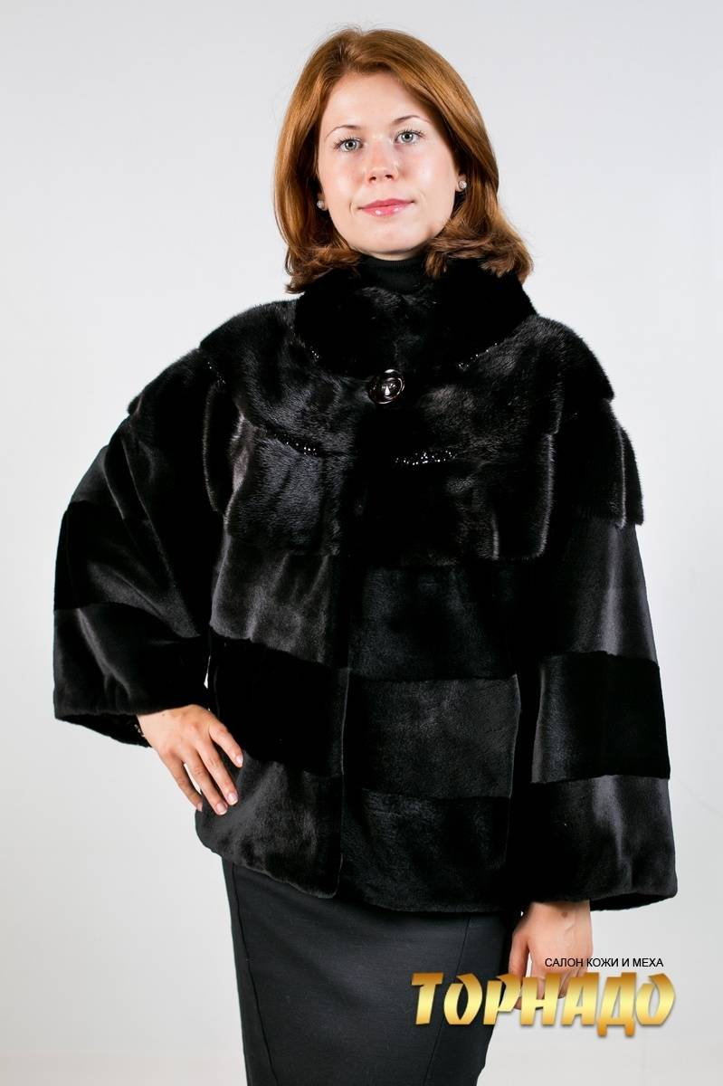 Женская шуба из норки. Артикул ШН-21500.