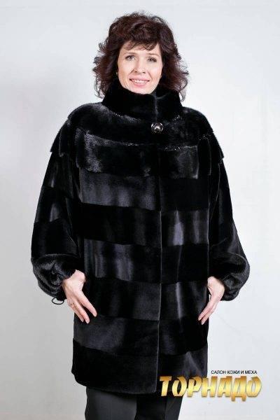 Женская шуба из норки. Артикул ШН-21501.