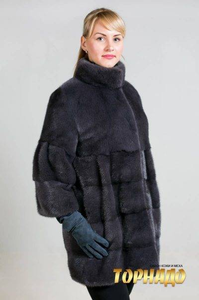 Женская шуба из норки. Артикул ШН-21583.