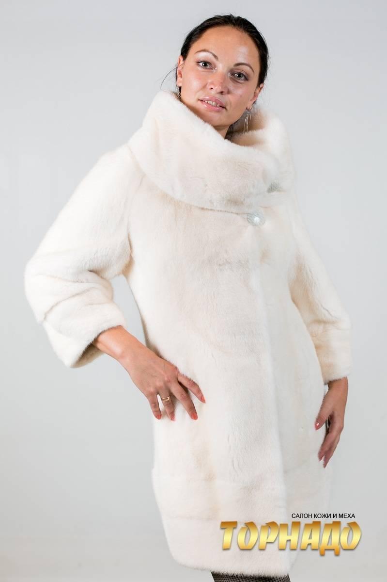 Женская шуба из норки. Артикул ШН-21586-2.