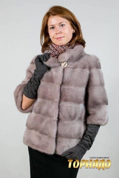 Женская шуба из норки. Артикул ШН-21657.