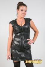 Женское кожаное платье. Артикул 21187.