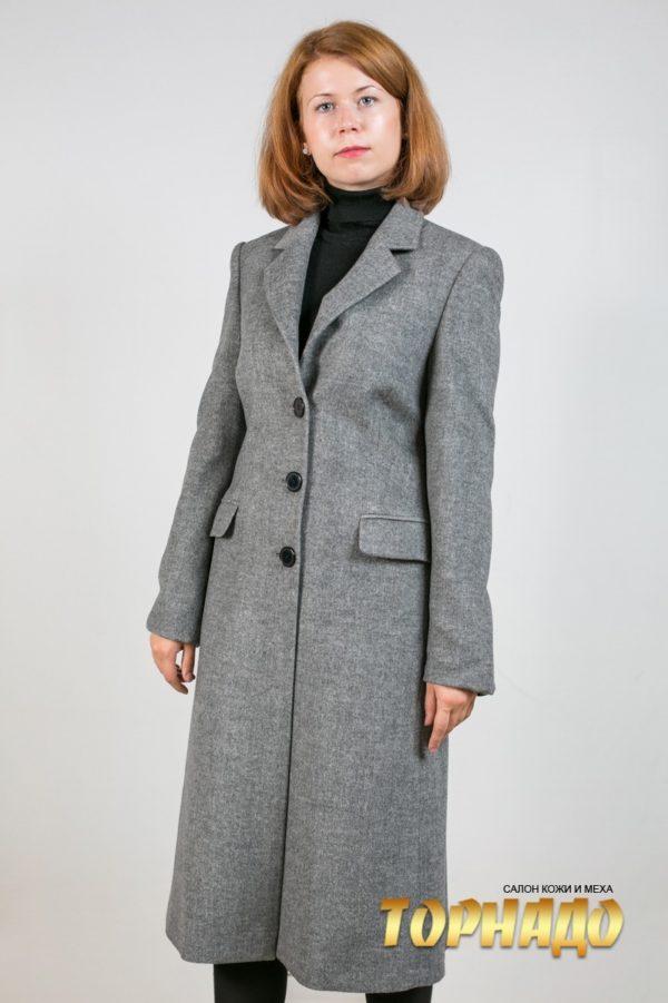Женское пальто из кашемира. Артикул 16520.