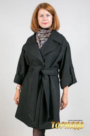 Женское пальто из кашемира. Артикул 16661.
