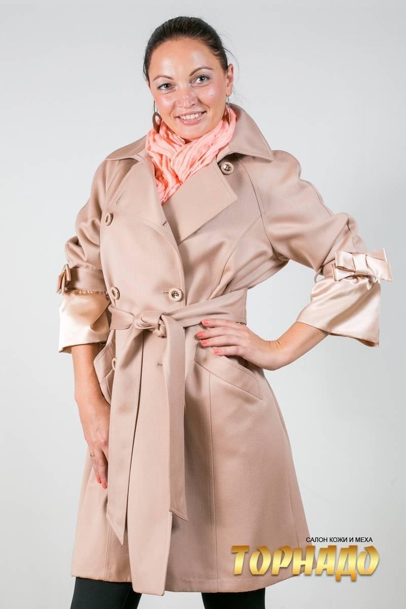 Женское пальто из кашемира. Артикул 16857-2.