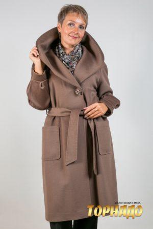 Женское пальто из кашемира. Артикул 21252.
