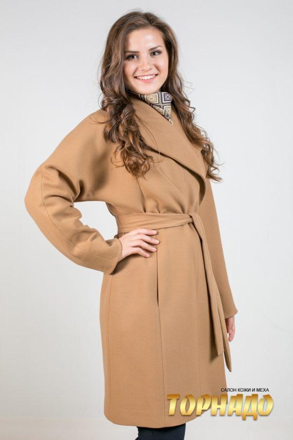 Женское пальто из кашемира. Артикул 21478.