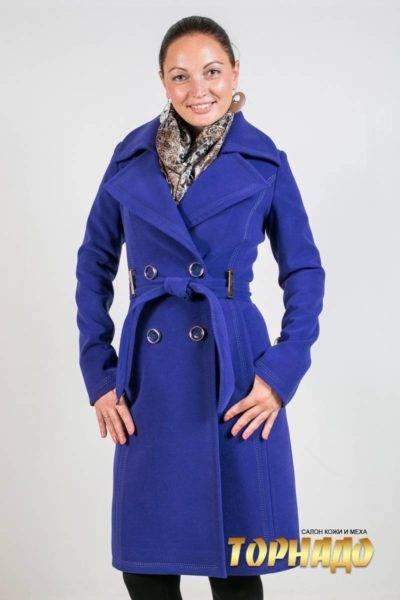 Женское пальто из кашемира. Артикул 21483.