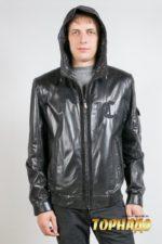 Мужская кожаная куртка. Артикул 15170.