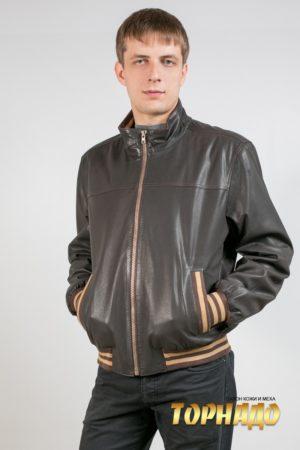 Мужская кожаная куртка. Артикул 16824.
