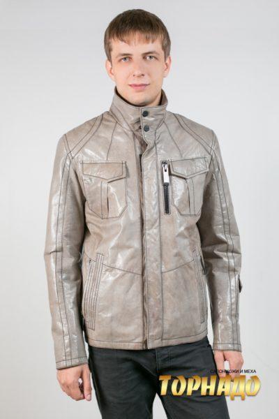 Мужская кожаная куртка. Артикул 18590.