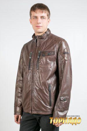 Мужская кожаная куртка. Артикул 20168.
