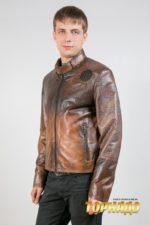 Мужская кожаная куртка. Артикул 20568.