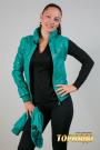 Женская кожаная куртка. Артикул 15081.