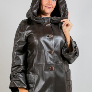 Женская кожаная куртка. Артикул 15124.