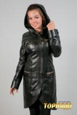 Женская кожаная куртка. Артикул 18246.