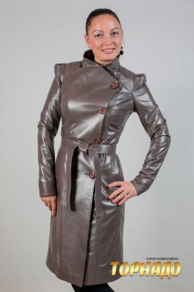 Женская кожаная куртка. Артикул 18249.