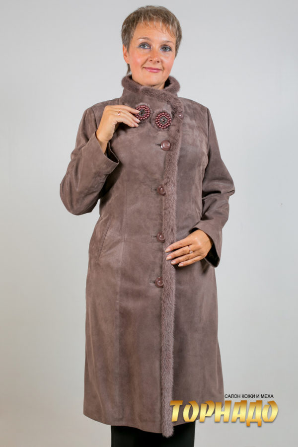 Женская кожаная куртка. Артикул 18370.