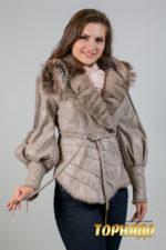 Женская кожаная куртка. Артикул 18530.