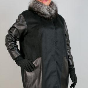 Женская кожаная куртка. Артикул 18653.