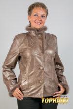 Женская кожаная куртка. Артикул 19890.