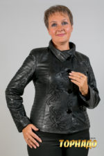 Женская кожаная куртка. Артикул 19902.