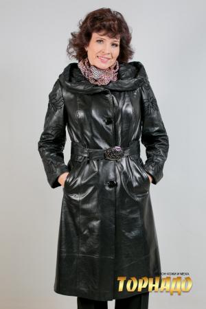 Женская кожаная куртка. Артикул 19920.