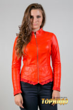 Женская кожаная куртка. Артикул 19960.