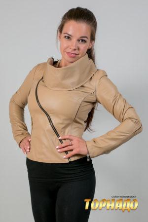 Женская кожаная куртка. Артикул 19991.