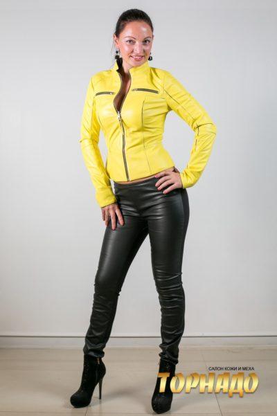 Женская кожаная куртка. Артикул 20036.