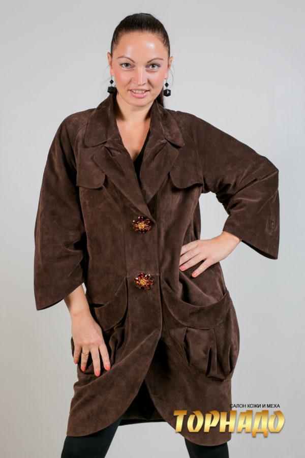 Женская кожаная куртка. Артикул 20044.