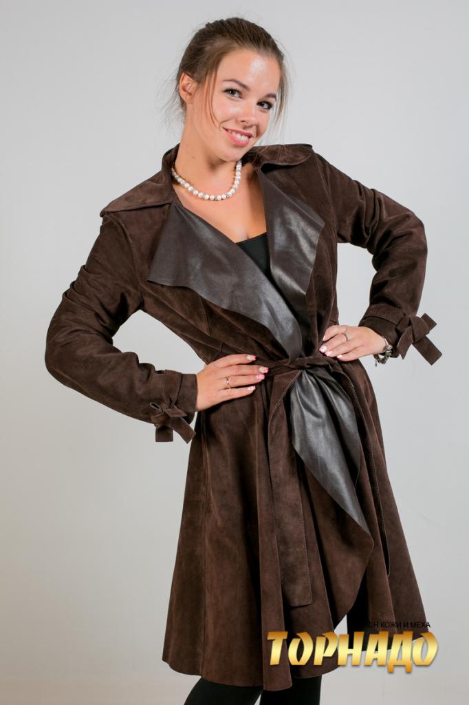 Женская кожаная куртка. Артикул 20050.