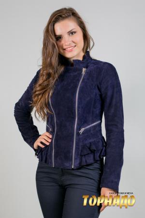 Женская кожаная куртка. Артикул 20056.