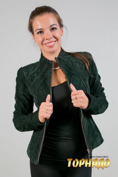 Женская кожаная куртка. Артикул 20075.
