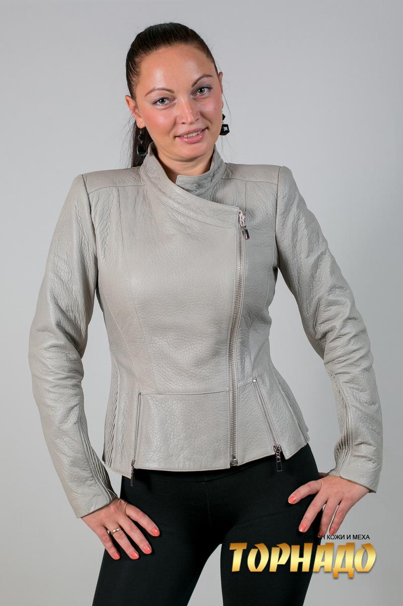Женская кожаная куртка. Артикул 20084.