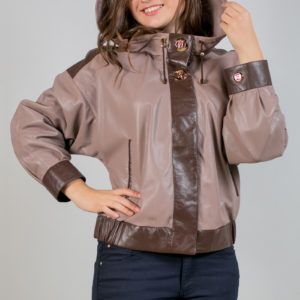 Женская кожаная куртка. Артикул 20097.