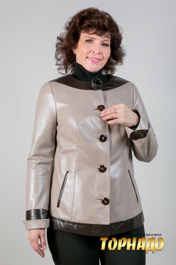 Женская кожаная куртка. Артикул 20100.