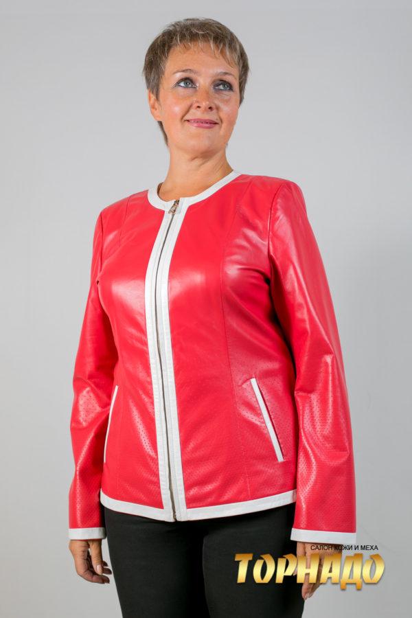 Женская кожаная куртка. Артикул 20114.