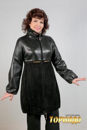 Женская кожаная куртка. Артикул 20155.